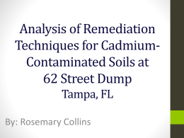 Analysis of Remediation Techniques for Cadmium