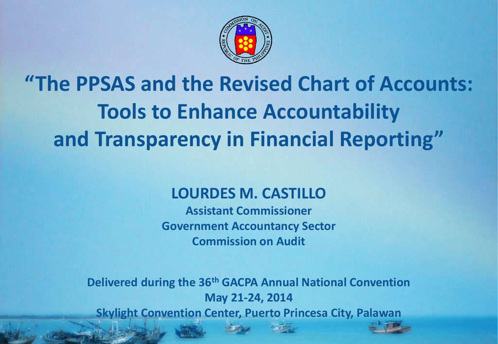 The Ppsas And The Revised Chart Of Accounts