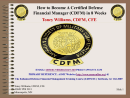 Toney_Williams`_How_to_Become_A_CDFM_in_[...]