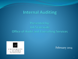 Statewide Office of Audit & Consulting Services