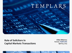 The Role of Solicitors in Capital Market Transactions
