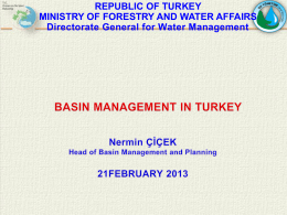 Basin Management in Turkey