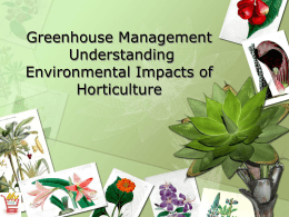 Environmental Impacts of Horticulture