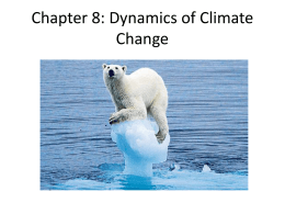 Chapter 8 Dynamics of Climate Change