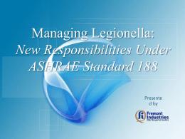 Managing Legionella