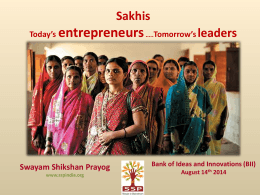 Swayam Shikshan Prayog - Bank of Ideas & Innovations