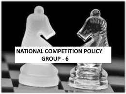 national competition policy group
