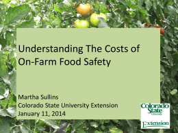 Good Agricultural Practices - Western Colorado Food and Farm Forum