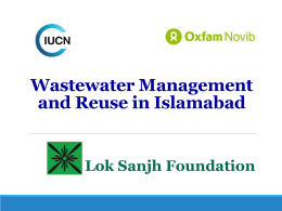 8. Wastewater Management and Reuse in Islamabad