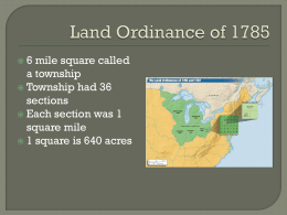 Notes on Homestead Act