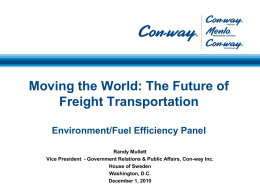 Con-way Freight - More Productive Trucks