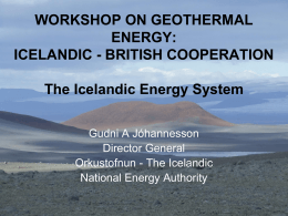 The Icelandic Energy System