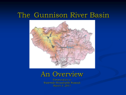 The Gunnison Basin - Colorado Mesa University