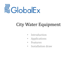 City Water Equipment presentation