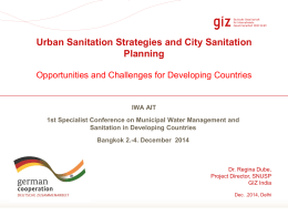 MWM_Dr. Regina Dube - Support to National Urban Sanitation Policy