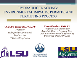 Environmental Impacts, Permits, and Permitting Process - UNO-EF