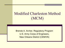 Modified Charleston Method - Coastal Protection and Restoration