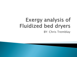 Fluidized bed dryers(Chris Tremblay)