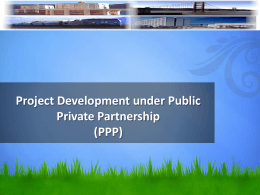 Session 3-Project Development under PPP