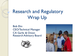 Research and Regulatory Update