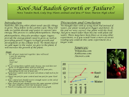 Koolaid Raddish Growth or Failure?