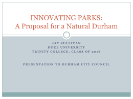 More than Parks_Final Presentation to Council