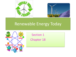 Renewable Energy Today ppt