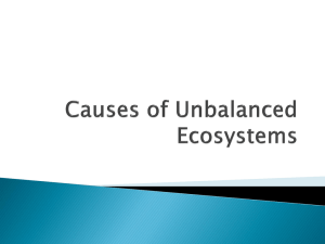 Causes of Unbalanced Ecosystems