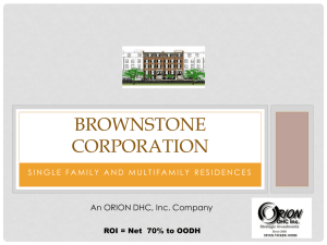 Brownstone Corporation OODH 2014 PPT ROI