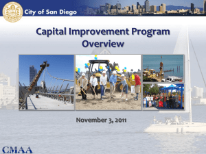 November - City of San Diego Capital Improvement Program Update