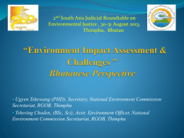Environment Impact Assessment & Challenges, Bhutanese