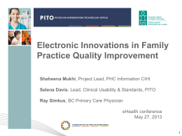 Electronic Innovations in Family Practice Quality Improvement