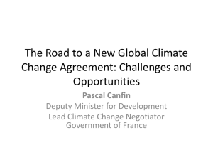 The Road to a New Global Climate Change Agreement