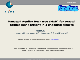 (MAR) for coastal aquifer management in a changing climate