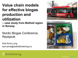 Value Chain models for effective biogas production and