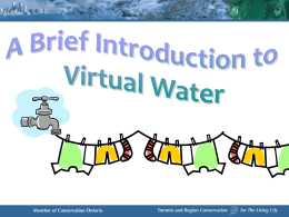 An Introduction To Virtual Water