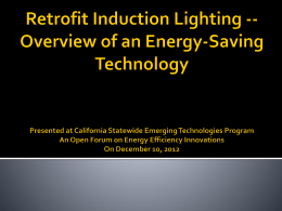 Retrofit Induction Lighting