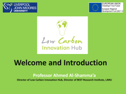 view `Introduction to Low Carbon Innovation Hub`