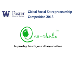 EcoChula - Foster School of Business