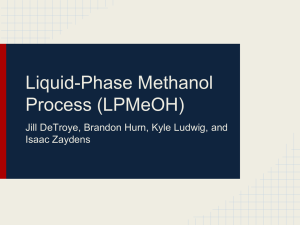 Air Product`s liquid-phase methanol (LPMeOH) process