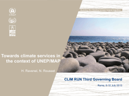 Towards climate services in the context of UNEP - Clim