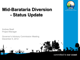 Mid-Barataria Diversion - Coastal Protection and Restoration Authority