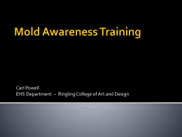 Mold Awareness - Ringling College of Art and Design
