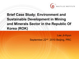 ROK Case Study - Nautilus Institute for Security and Sustainability