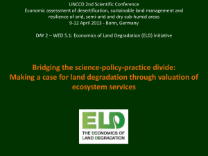 Bridging the science-policy-practise divide: Making a case for land