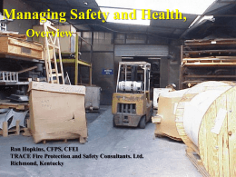 OSHA Managing Safety and Health Guidelines, Non Mandatory