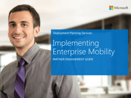 Engagement guide: Implementing Enterprise