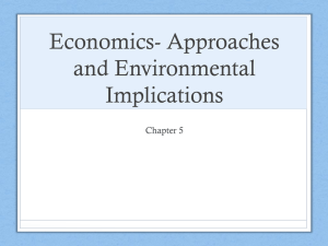 Economics Approaches and Env implications