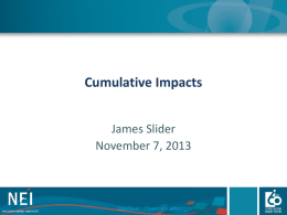 Cumulative Impacts Presentation to the November 2013 NESCC Mtg