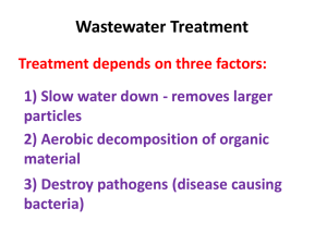 Wastewater Treatment (PowerPoint)